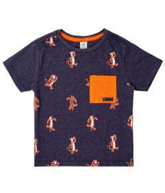 Camiseta-Manga-Curta---Algodao-e-Poliester---Tigrao---Azul-Marinho---Disney---2
