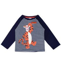 Camiseta-Manga-Longa---Algodao-e-Poliester---Tigrao---Azul-Marinho---Disney---1