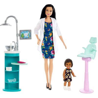 playset-e-boneca-barbie-profissoes-barbie-dentista-morena-mattel_Frente
