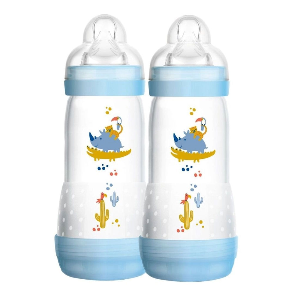 Mamadeira First Bottle - 320ml - 2 Unidades - Menina - Selva - MAM