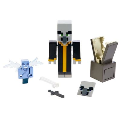 Figura-Articulada-e-Acessorios---Minecraft---Comic-Maker-Multipack---Evoker---Mattel_Detalhe