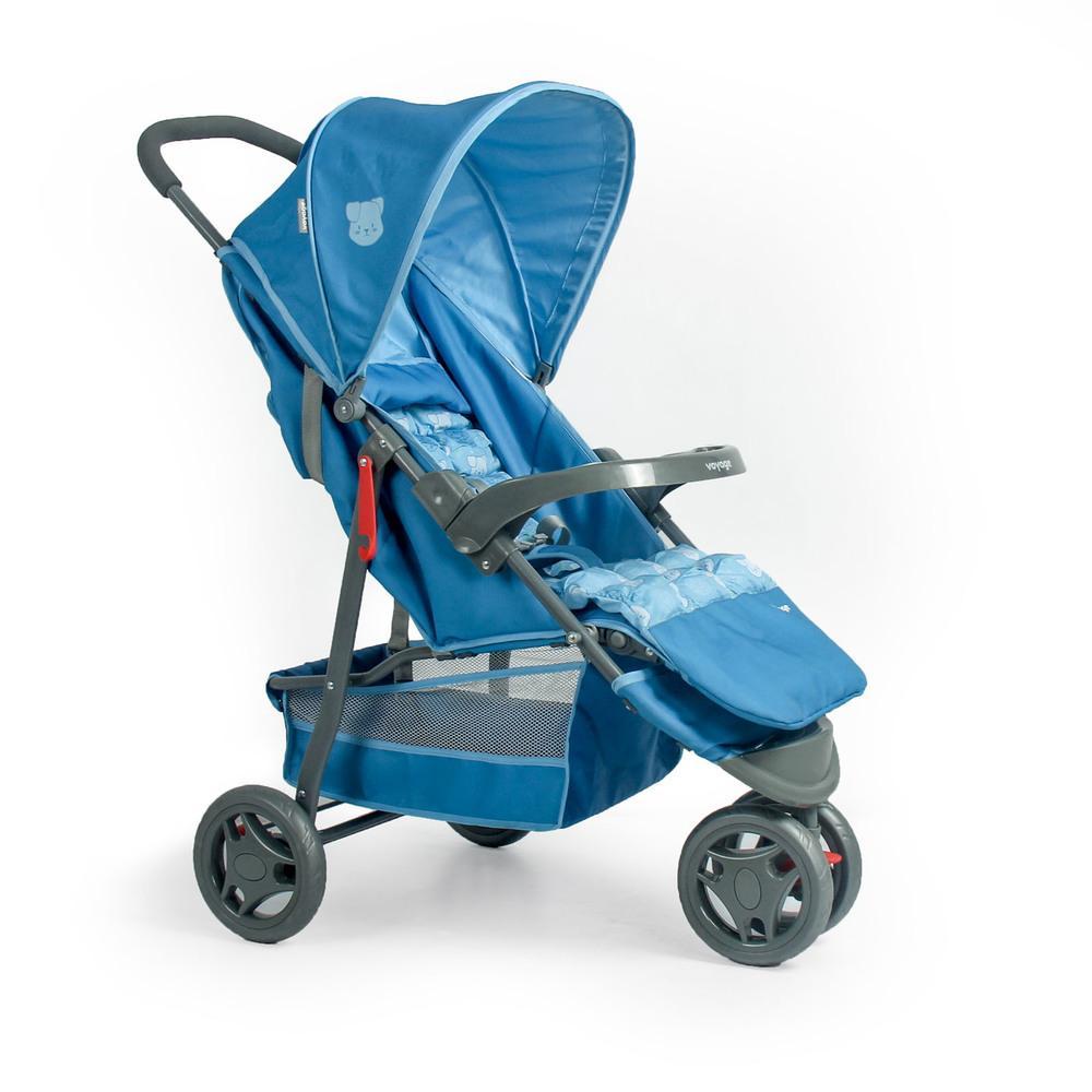 Carrinho de Bebê Delta Voyage - Azul Pet