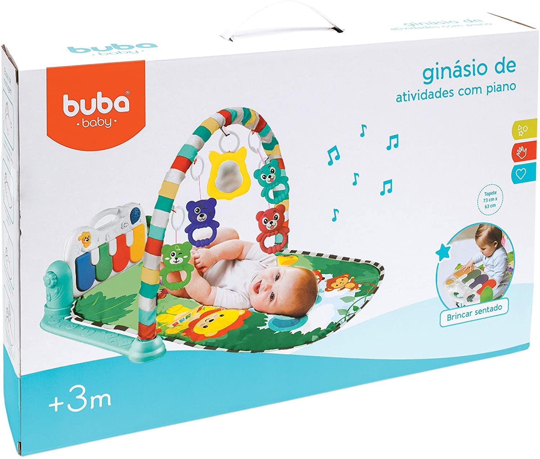 Ginásio Tapete de atividades do bebê com paino Safari Buba