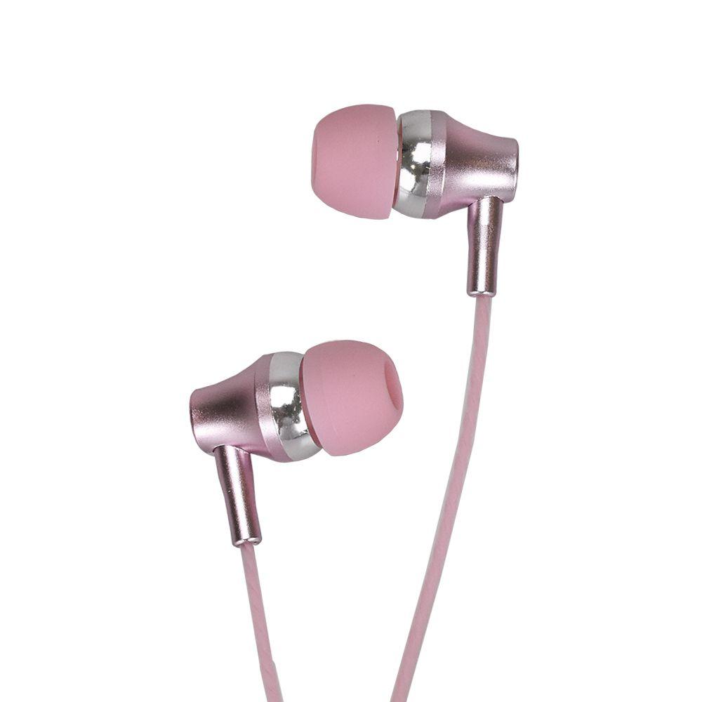 Fone de Ouvido EVUS INTRA Auricular F-09 Premium 3,5MM Rosa