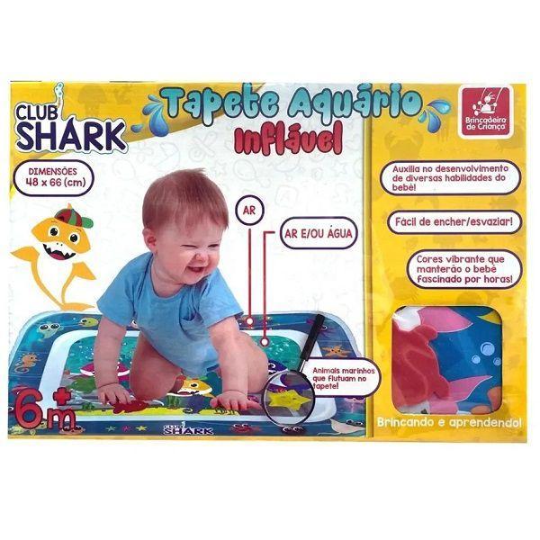 Tapete Aquatico Inflavel CLUB SHARK Brincadeira de Criança 3052