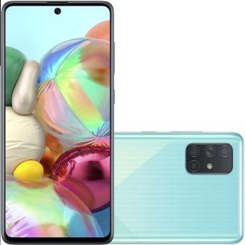 Celular Samsung Galaxy A-71 128GB Dual - SM-A715FZBPZTO AZUL Quadriband
