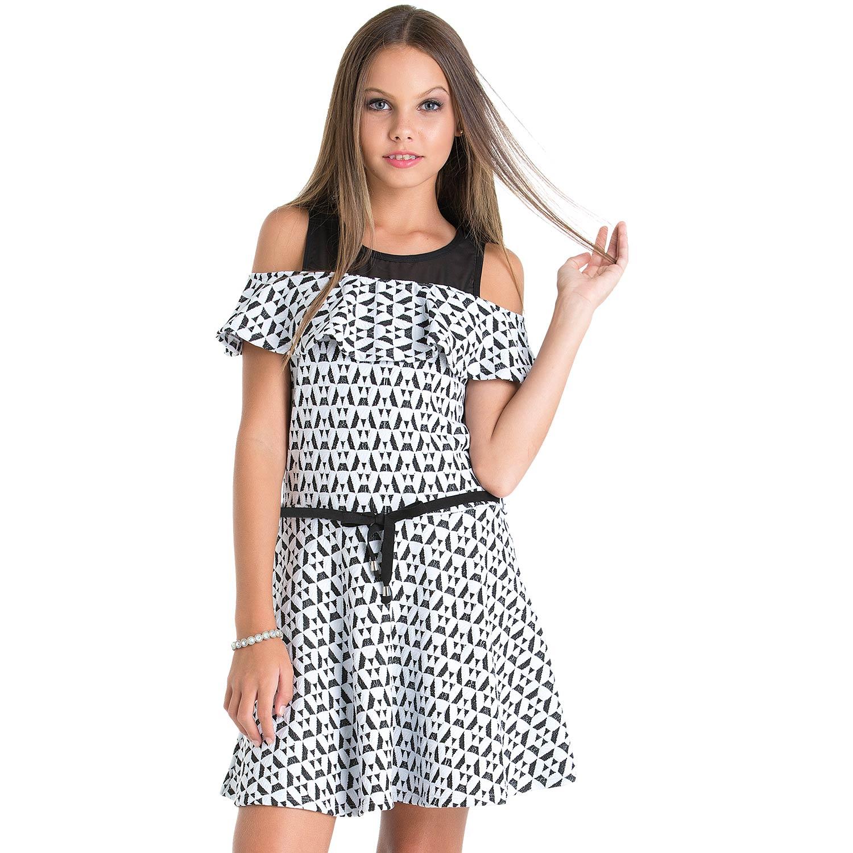 Vestido Teen Amora Jacquard