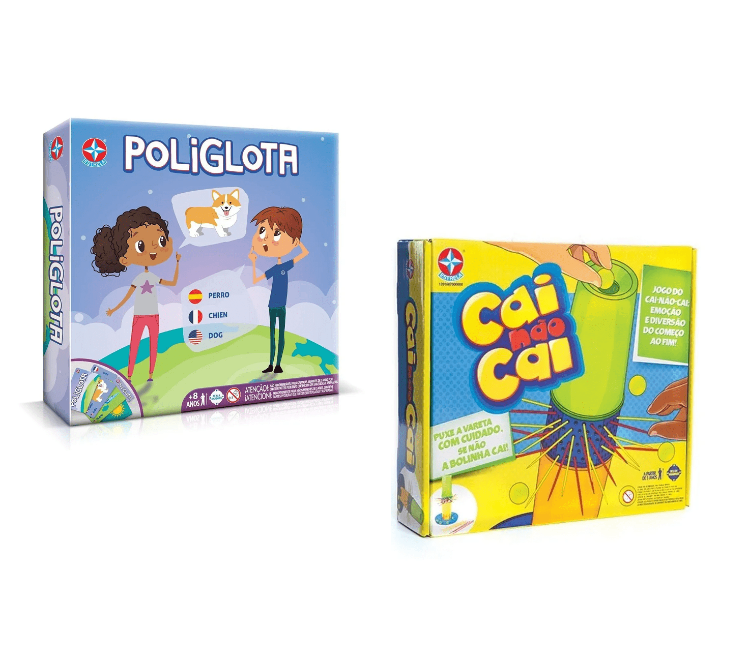 Kit jogo poliglota e cai não cai - Estrela