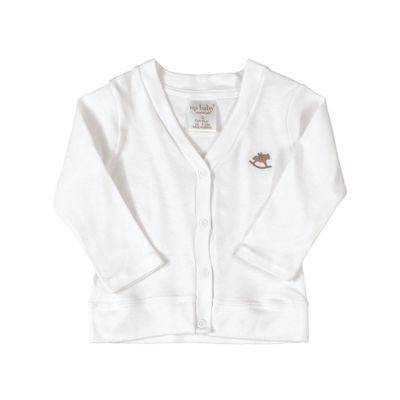 Cardigan-Suedine---100--Algodao---Liso---Branco---Up-Baby---RN