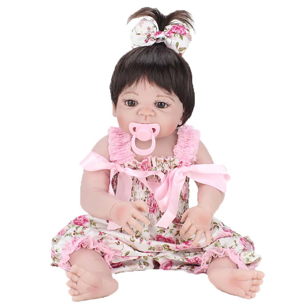 Boneca Bebe Reborn Laura Baby Pink Flower