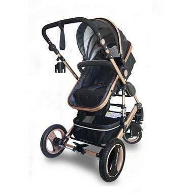 Carrinho de Bebê Premium Preto com amortecedor  Q3