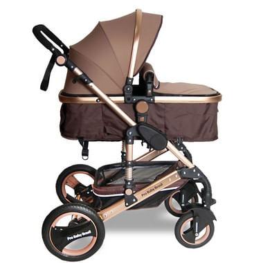 Carrinho de Bebê Premium Marrom com amortecedor  Q3