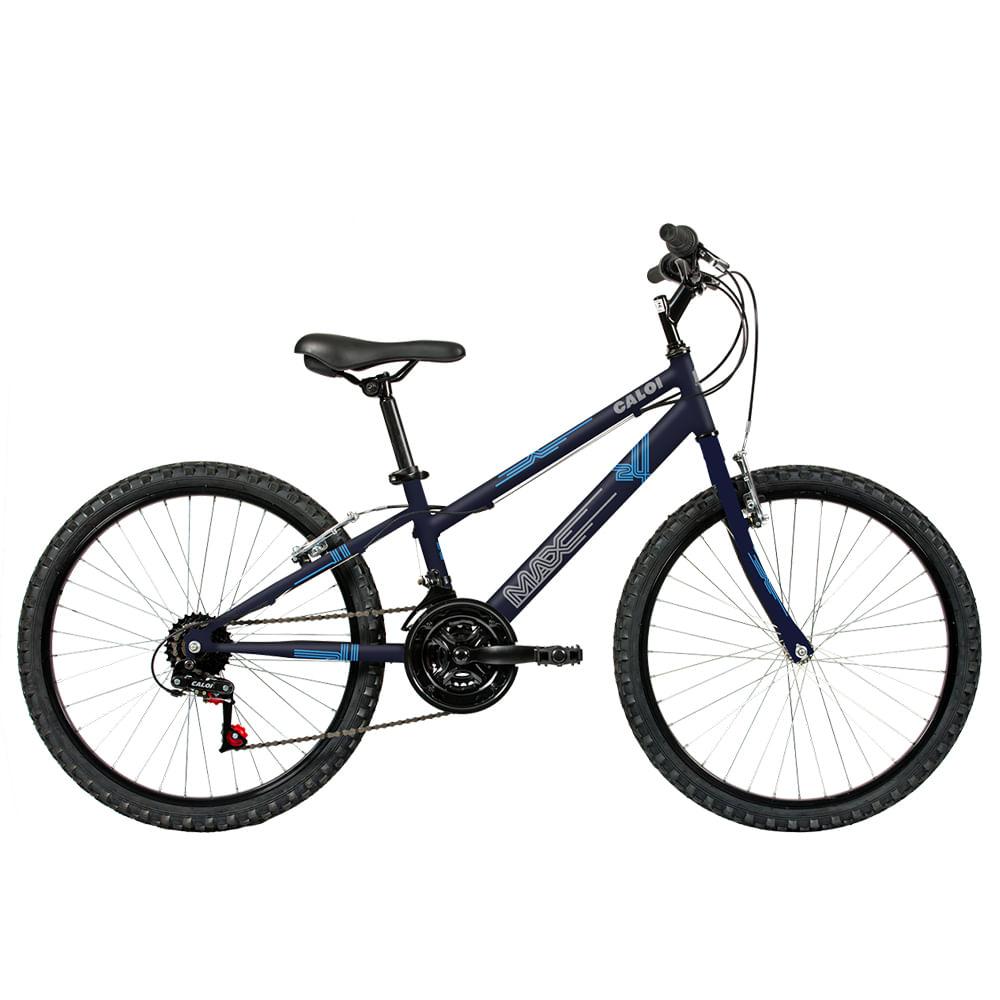 Bicicleta ARO 24 - Max - Azul - Caloi