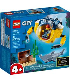 LEGO-City---Mini-Submarino-Oceanico---60263-0