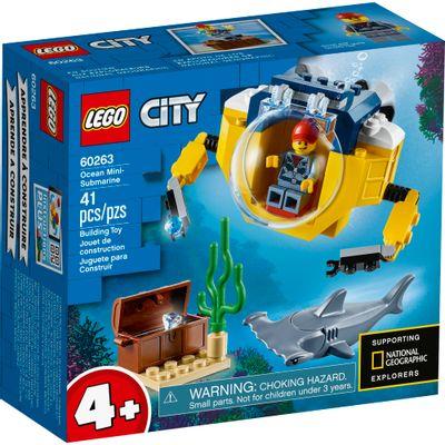 LEGO-City---Mini-Submarino-Oceanico---60263-0