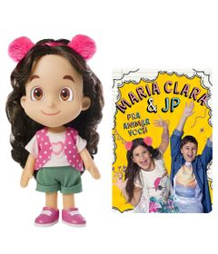 Kit-Boneca-Articulada---27-Cm---Maria-Clara---Novabrink-e-Livro-Infantil---Maria-Clara-e-Jp---Para-Animar-Voce---Catavento