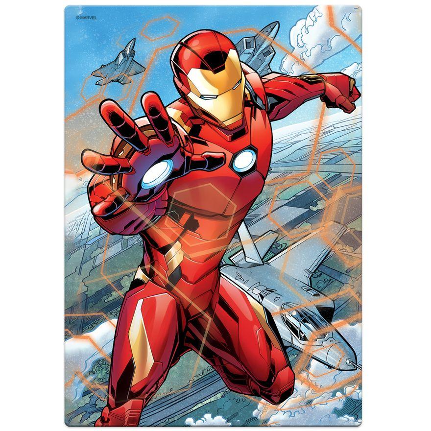 Quebra-Cabeca---200-pecas---Disney---Marvel---Os-Vingadores---Homem-de-Ferro---Toyster-1