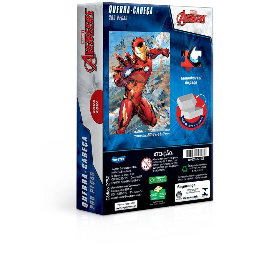 Quebra-Cabeca---200-pecas---Disney---Marvel---Os-Vingadores---Homem-de-Ferro---Toyster-2