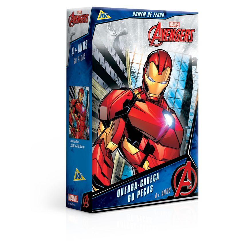 Quebra-Cabeca---60-pecas---Disney---Marvel---Os-Vingadores---Homem-de-Ferro---Toyster-0
