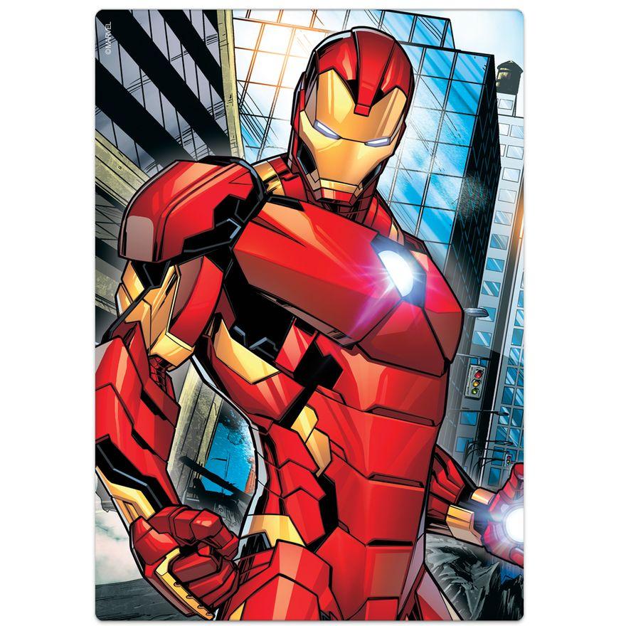Quebra-Cabeca---60-pecas---Disney---Marvel---Os-Vingadores---Homem-de-Ferro---Toyster-1