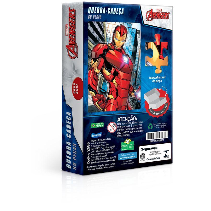 Quebra-Cabeca---60-pecas---Disney---Marvel---Os-Vingadores---Homem-de-Ferro---Toyster-2
