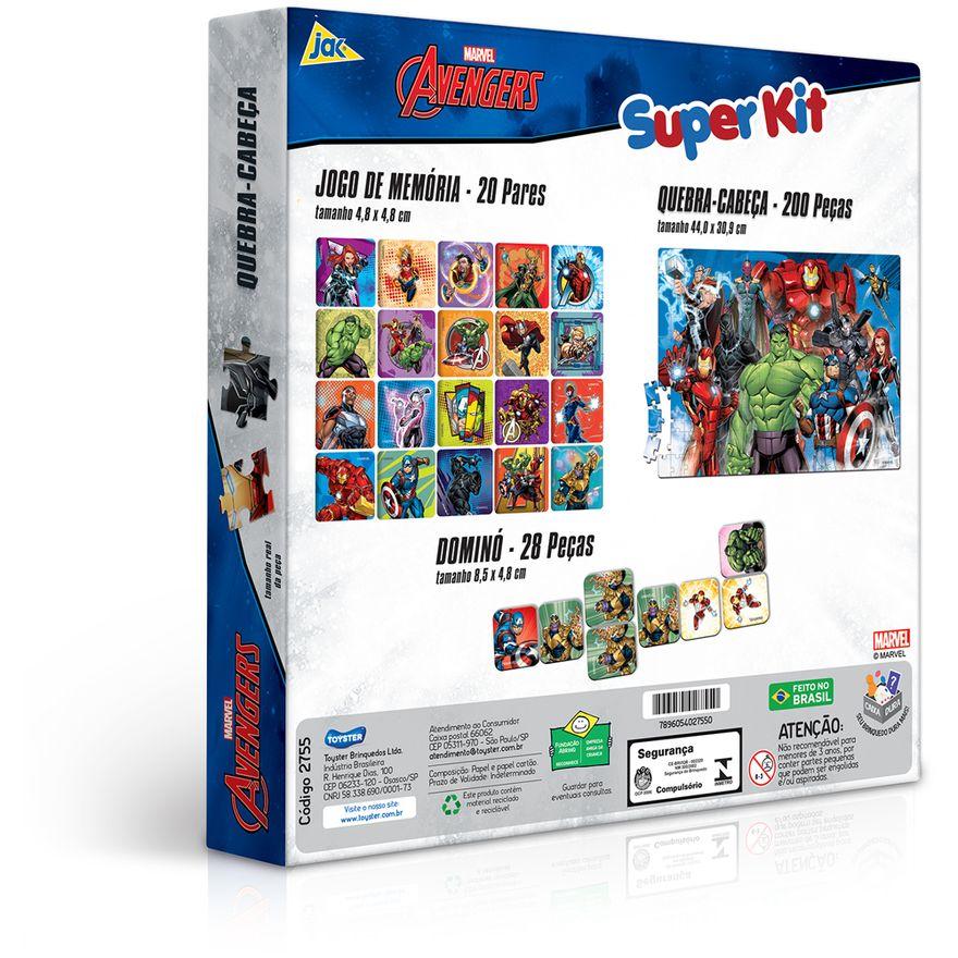 Conjunto-de-Jogos---Quebra-Cabeca-Jogo-da-Memoria-e-Domino---Disney---Marvel---Avengers---Toyster--2