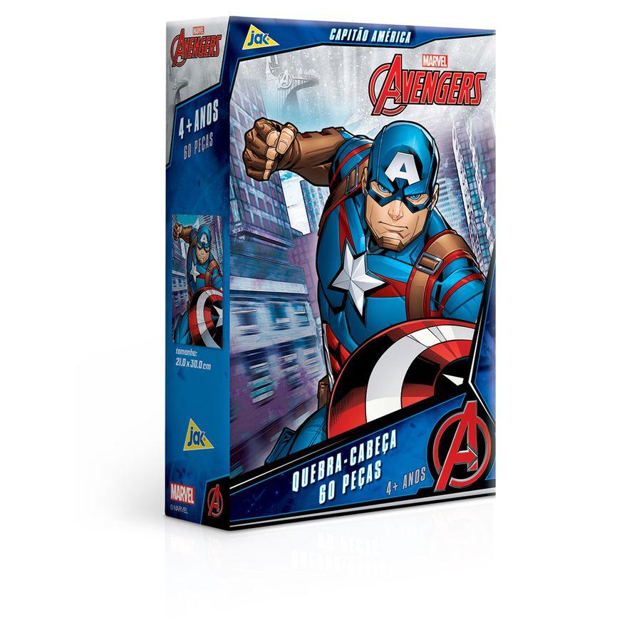 Quebra-Cabeca---60-pecas---Disney---Marvel---Os-Vingadores---Capitao-America---Toyster-0