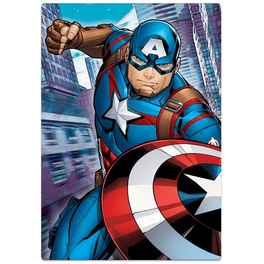 Quebra-Cabeca---60-pecas---Disney---Marvel---Os-Vingadores---Capitao-America---Toyster-1