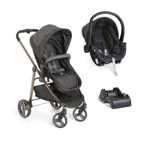 Carrinho de Bebe Bebe Conforto e Base Galzerano Olympus Black