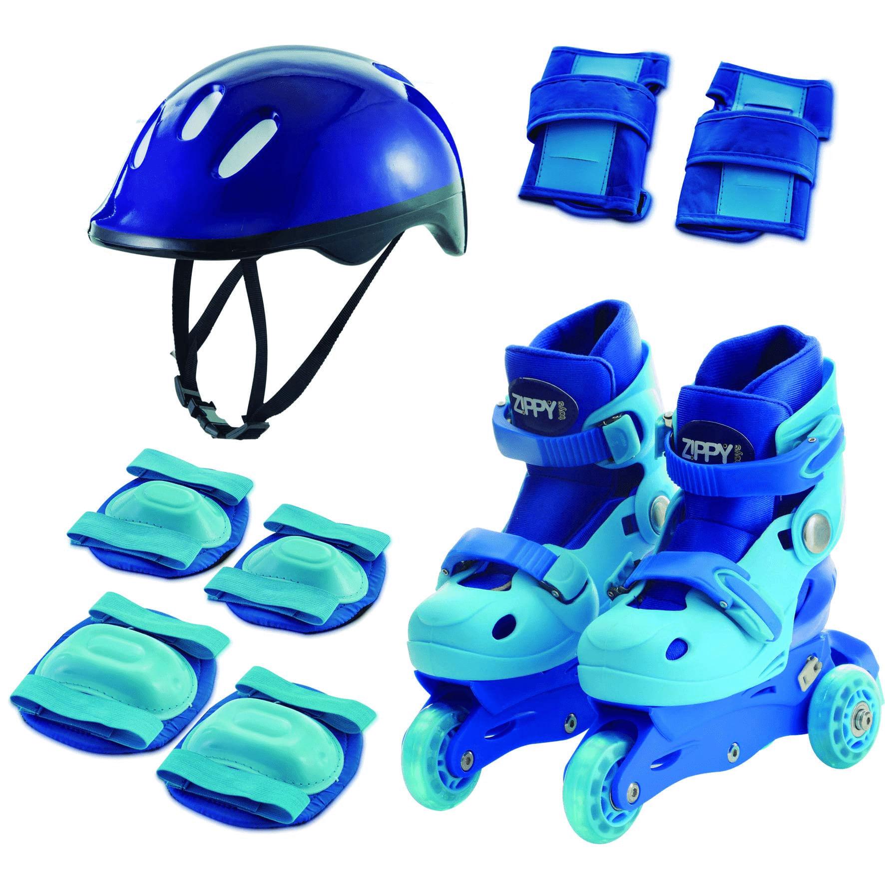 Kit Patins Tri Line - 2 em 1 - Azul - Zippy Mimo Style