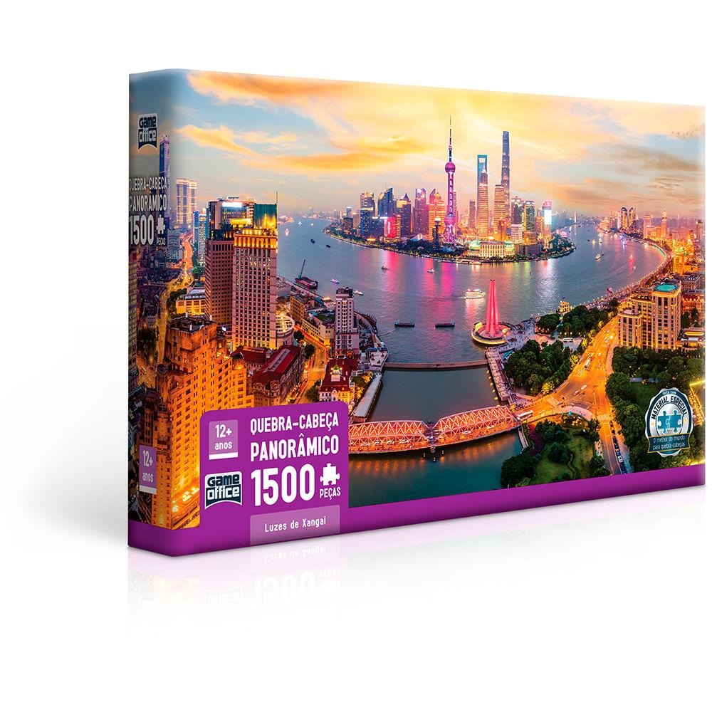 Quebra-Cabeça - 1500 Peças - Luzes De Xangai - Toyster