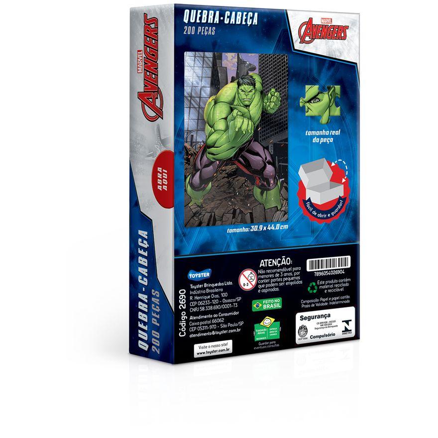 Quebra-Cabeca---200-Pecas---Disney---Marvel---Os-Vingadores---Hulk---Toyster-2