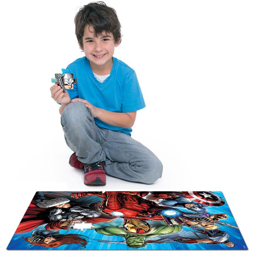Quebra-Cabeca---120-Pecas---Grandao---Disney---Marvel---Os-Vingadores---Toyster-2