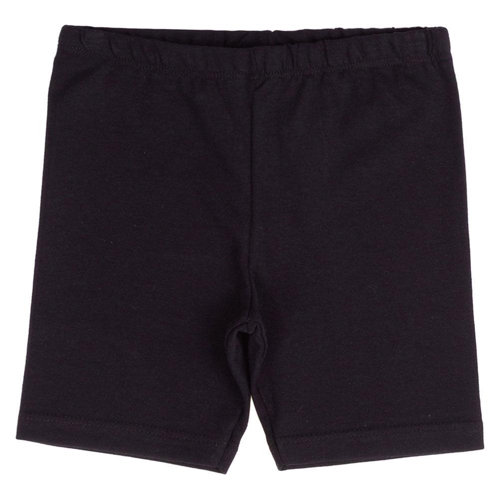 Bermuda Infantil - Ciclista - Cotton Lisa - Algodão e Elastano - Preto - Minimi