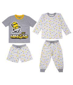Quadrijama-Infantil---Meninos---100--Algodao---Cinza---Minions---2