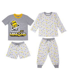 Quadrijama-Infantil---Meninos---100--Algodao---Cinza---Minions---4
