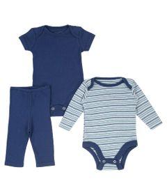 Conjunto-de-Bodies-e-Calca---Algodao-e-Poliester---Azul-Marinho---Minimi---PR