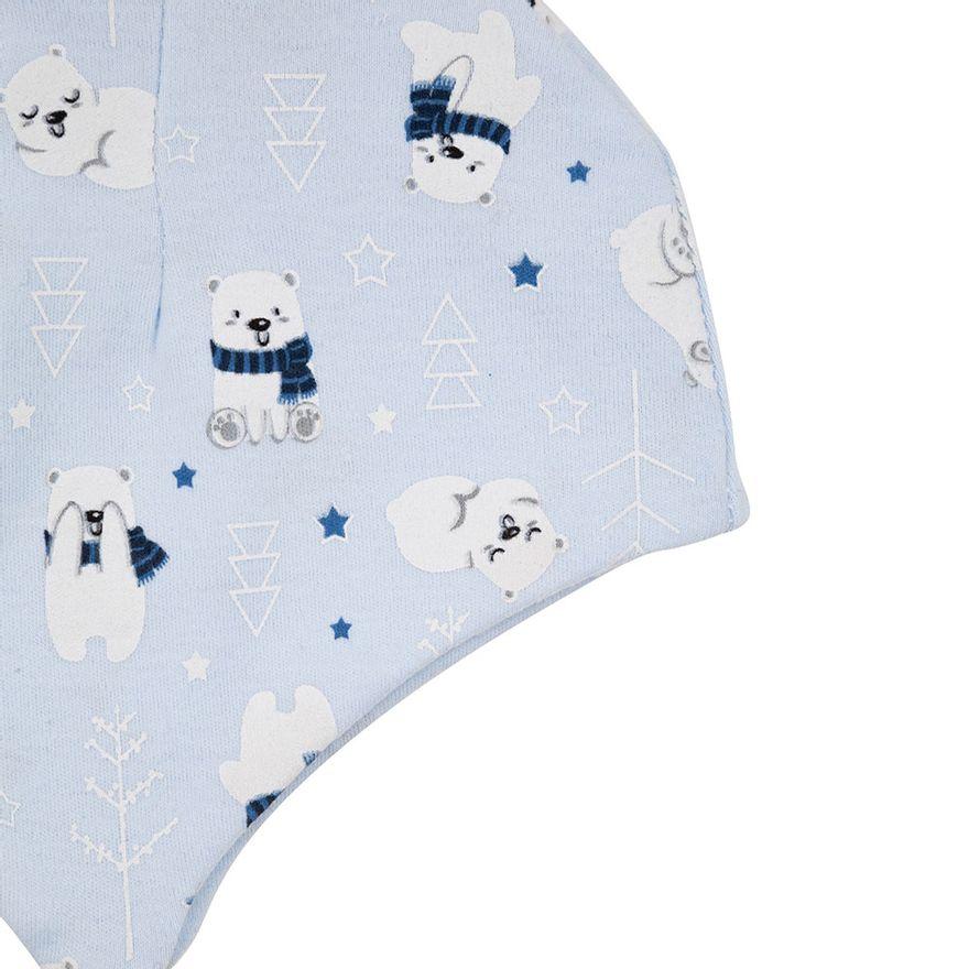 Conjunto-de-Toucas---2-Pecas---Urso-Azul---100--Algodao---Azul---Minimi---Unico