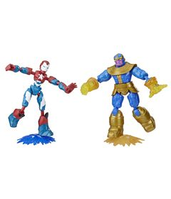 Conjunto-de-Bonecos-Articulados---Disney---Marvel---Bend-And-Flex---Iron-Patriot-e-Thanos---Hasbro-0