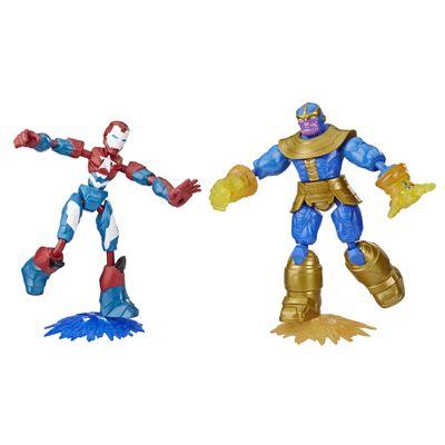 Conjunto-de-Bonecos-Articulados---Disney---Marvel---Bend-And-Flex---Iron-Patriot-e-Thanos---Hasbro-0