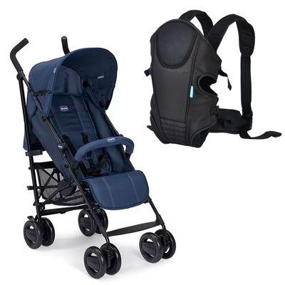 kit-com-carrinho-de-passeio-london-blue-passion-chicco-e-canguru-comfort-line-preto-kababy_Frente