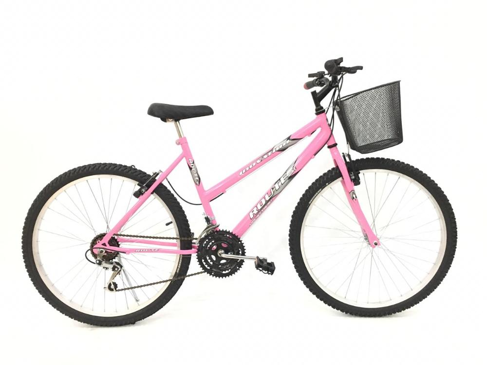 Bicicleta Mtb Feminina Aro 26 18 Velocidades Freios V-brake