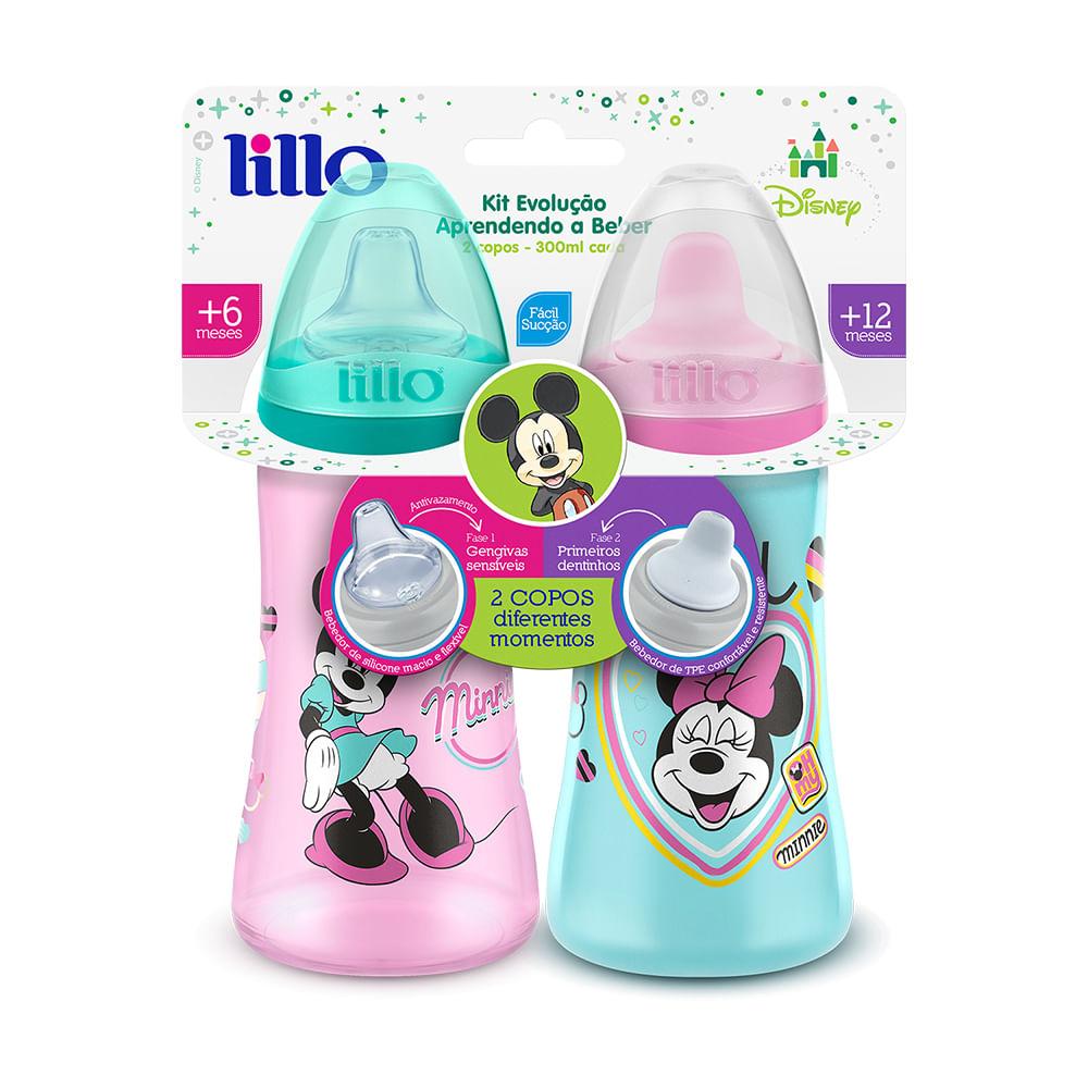 Conjunto De Copos De Treinamento - 6 e 12 Meses - Disney - Minnie - Colors - Lillo