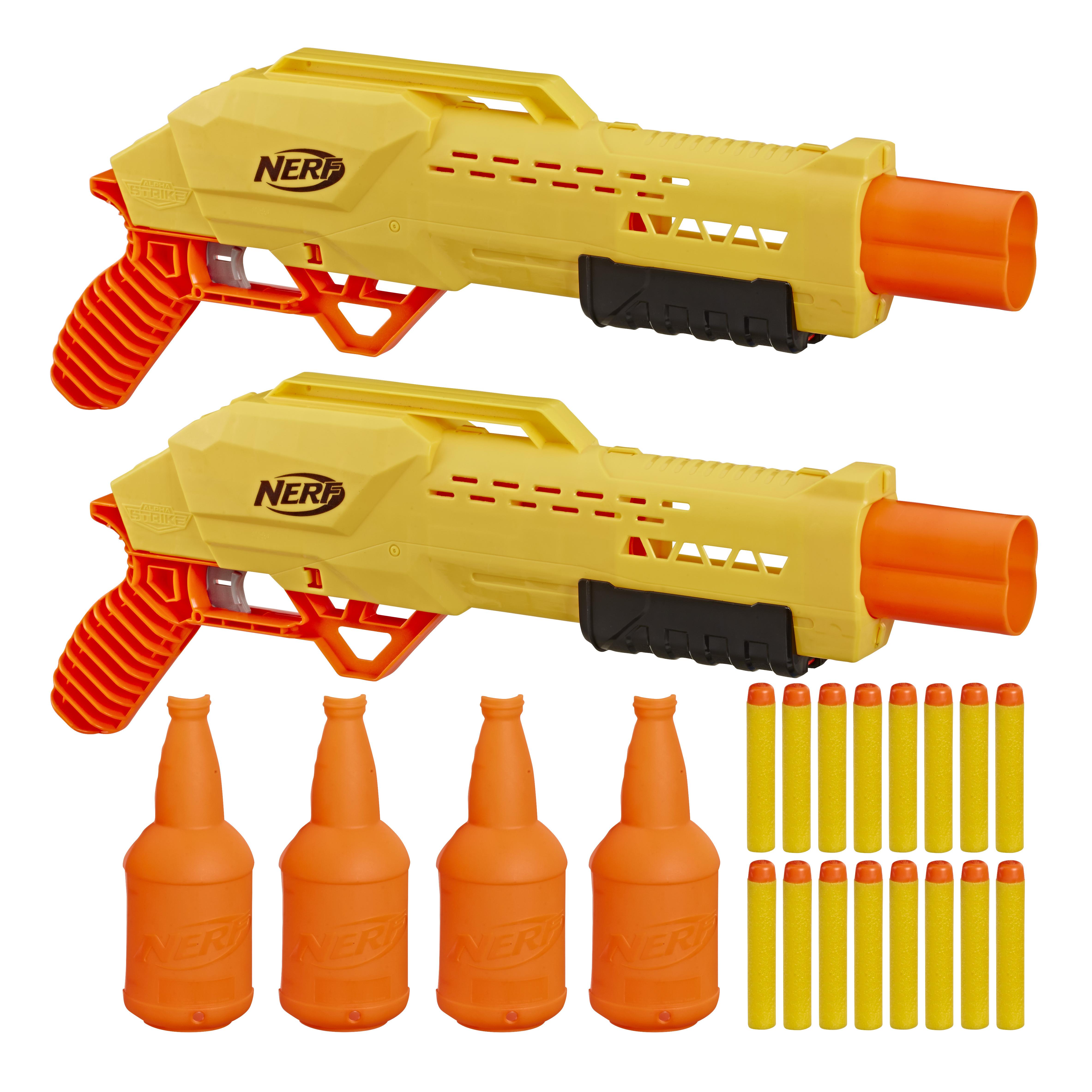 Lançador de Dardos - Alvo Duplo - Alpha Tiger DB-2 - Alpha Strike - Nerf - Hasbro