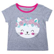 Blusa-Manga-Curta---Gatinha-Floral---Algodao-e-Poliester---Mescla---Minimi---2