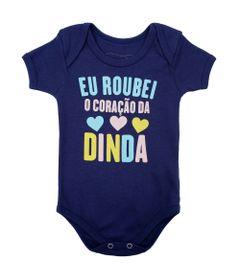 Body-Manga-Curta---Frases---Coracao-da-Dinda---100--Algodao---Azul-Marinho---Minimi---RN