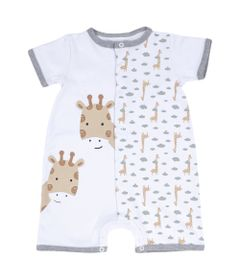 Macaquinho-Infantil---Girafa-Curiosa---100--Algodao---Branco---Minimi---GG