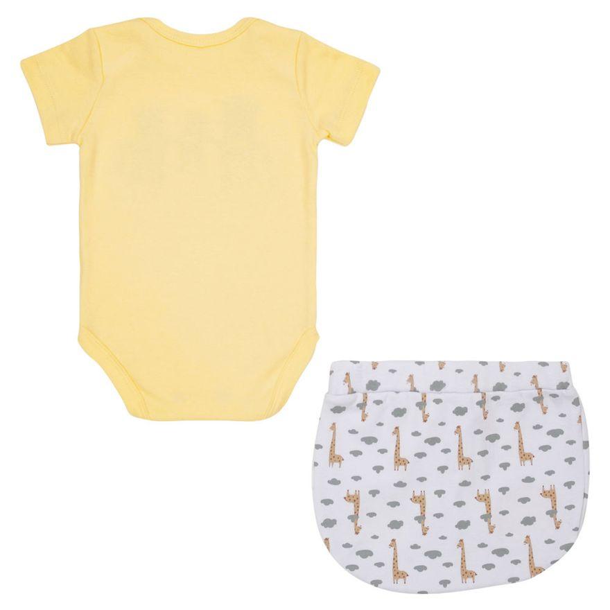 Quadrijama-Baby---Unissex---100--Algodao---Amarelo-e-Mescla---Minimi---RN