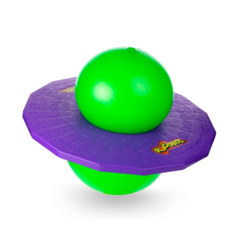 Brinquedo Clássico Pogobol Estrela Roxo e Verde 6+