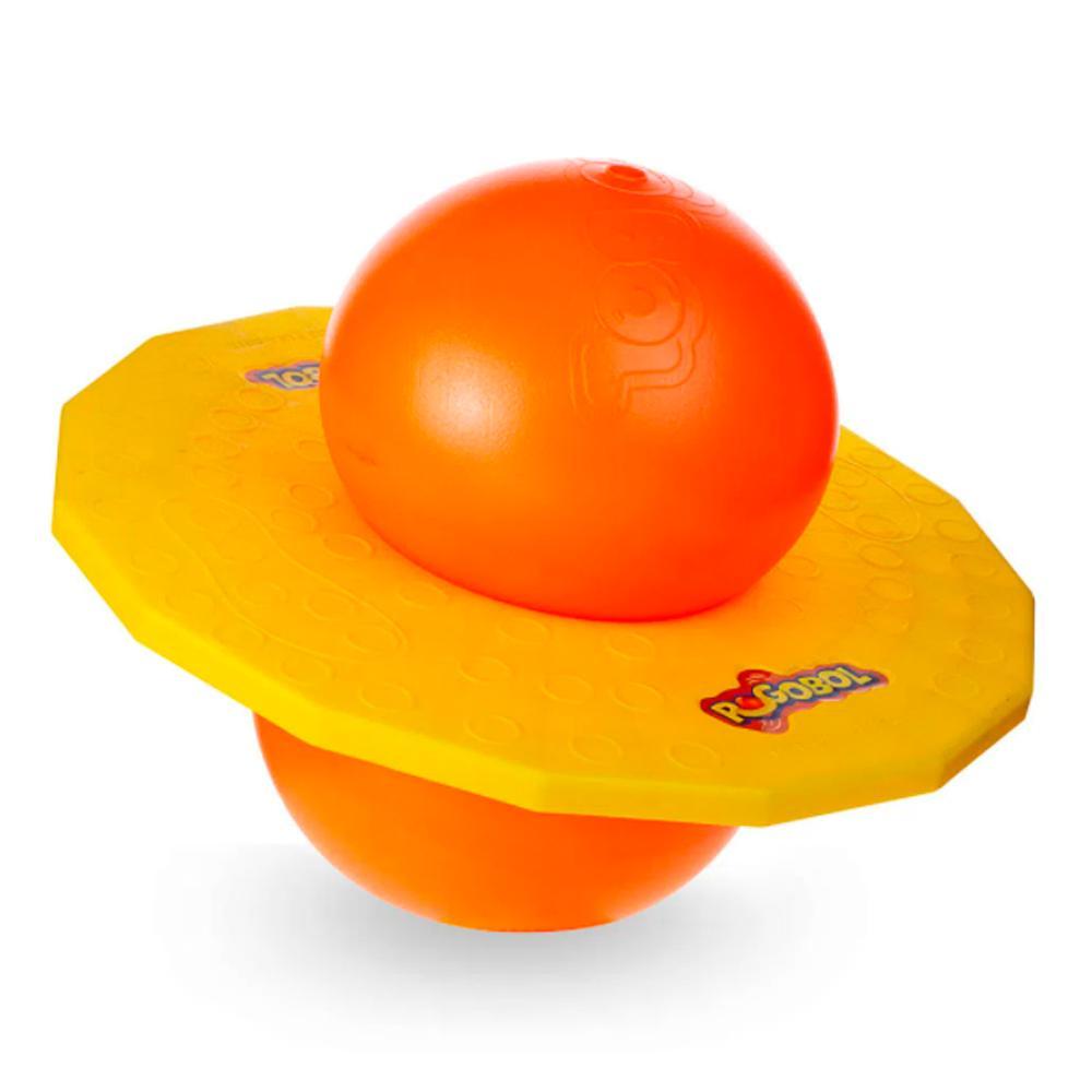 Brinquedo Clássico Pogobol Estrela Amarelo e Laranja 6+